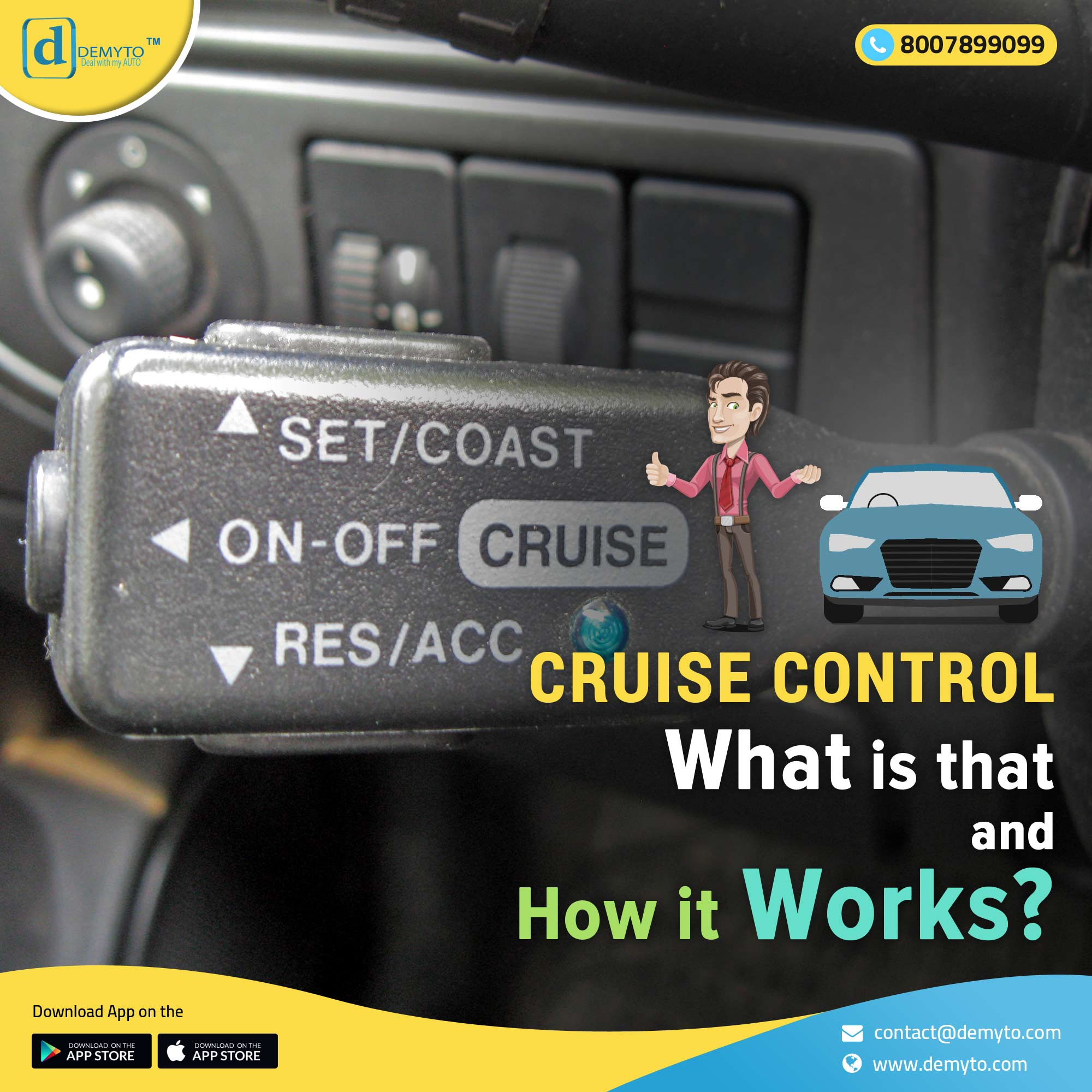 Car talks about the cruise control